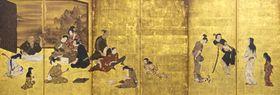 江戸時代初期の風俗をリアルに描いた彦根屏風(彦根城博物館所蔵)
