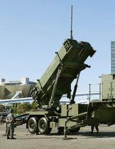 10月9日、航空自衛隊の機動展開訓練で、報道公開されたPAC3=東京・有明