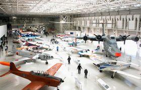 リニューアルオープンした「岐阜かかみがはら航空宇宙博物館」=24日午前、岐阜県各務原市