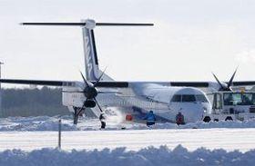2017年1月、新千歳空港でオーバーランした全日空機