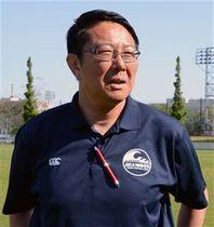 日本開催のラグビーW杯について語る大会アンバサダーの桜庭さん