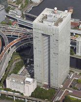 東芝本社が入るビル=東京都港区
