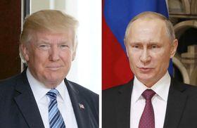 トランプ米大統領(ゲッティ=共同)、ロシアのプーチン大統領