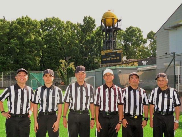 審判団は経験豊富な陣容で、安全対策を重視している=写真提供・関東小学生アメリカンフットボール連盟