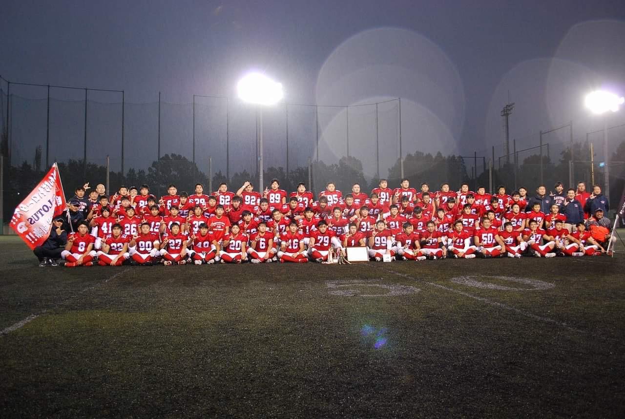 東京大会で4年連続5度目の優勝を果たした佼成学園=佼成学園高校アメリカンフットボール部提供
