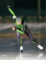 【高校男子1000メートル】大会記録を更新した清川一樹(八戸西)=長根リンク