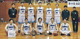 2連覇を果たせず、3位となった石川ブルースパークスのメンバー