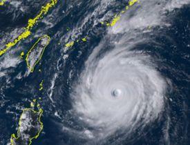 25日午後3時の台風24号(ひまわり8号リアルタイムwebから)
