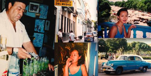 ハバナの街に似合う旧車 昼はボデギータのモヒートを煽り 夜はゆっくり葉巻を嗜む
