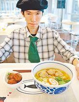 食堂に登場したイノシシ肉団子のメニュー