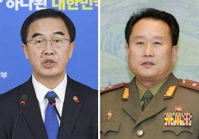 韓国の趙明均統一相、北朝鮮の祖国平和統一委員会の李善権委員長(聯合=共同)