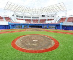 6月1日にオープンする宇津木スタジアム=高崎市で(市提供)