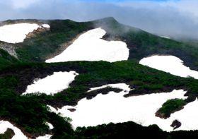 横岳のハート雪形
