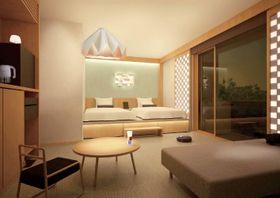 変なホテル第3期棟の客室イメージ(ハウステンボス提供)