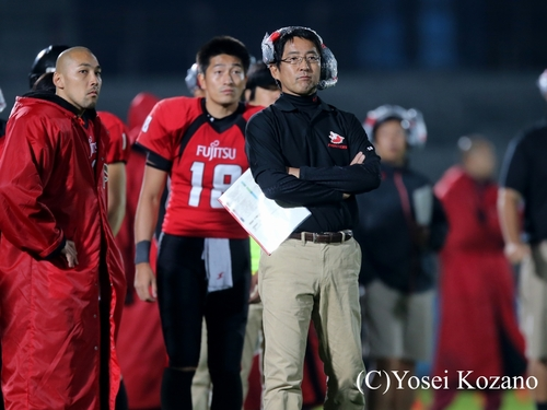 昨季日本一を達成した富士通の藤田智HC=撮影:Yosei Kozano
