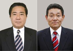 長島昭久衆院議員(左)、笠浩史衆院議員