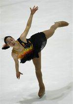 【シニア女子フリー】伸びやかな演技で優勝した廣谷(八工大一出、岩手大)=テクノルアイスパーク八戸