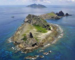 沖縄県の尖閣諸島=2012年9月