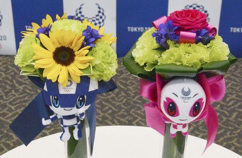 メダリスト副賞に被災3県の花束