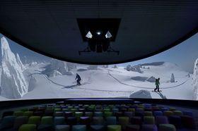 青い森ホールで新たに上映が始まる冬の映像(県観光連盟提供)