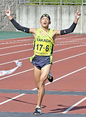 男子・高田が東北初制覇 東北中学駅伝、アンカー星26秒差逆転