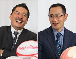 2014年新春対談で語る平尾誠二さん(左)と山中伸弥さん