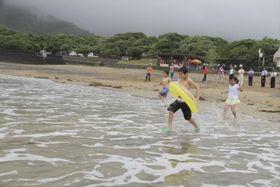 美波町の田井ノ浜海水浴場