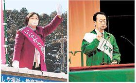 非常事態下、訴え縮小 岐阜県知事選告示後初の週末、人影まばら