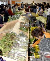 旬の野菜が並ぶ直販所(土佐清水市下川口)