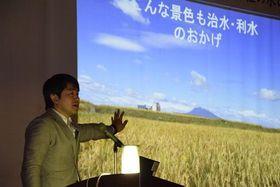 浅瀬石川ダム30周年で基調講演する弘前大学の土井准教授