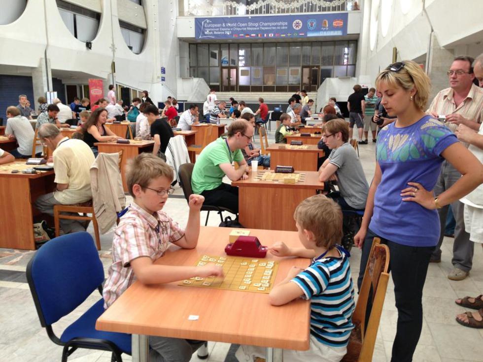 ミンスクの大会には大勢の子どもたちが参加