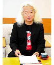 今後の活動に向け、意欲を示すファンキー末吉さん=香川県庁