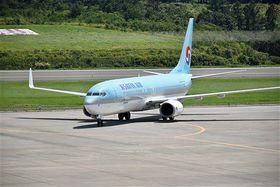 冬季週5往復を見送り3往復を維持する方針の大韓航空機