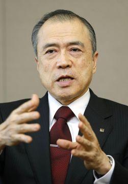 インタビューに答える東京ガスの広瀬道明社長