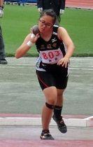 ジュニアオリンピック陸上女子A砲丸投げで、自己ベストを更新し3位入賞を果たした田中