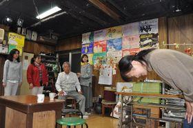 劇団かに座「橙色の噓」の稽古風景=横浜市西区
