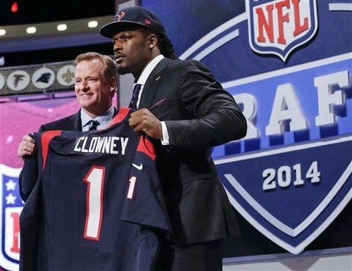 今年のドラフト、全体1位でテキサンズに指名されたDLクラウニー=写真提供:NFL JAPAN