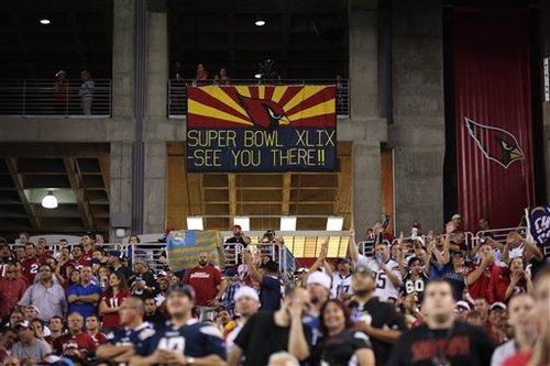 今季のスーパーボウルはアリゾナ州グレンデールで開催された