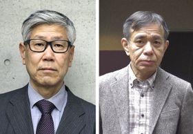 松浦寿輝さん(左)、荒川洋治さん(右)
