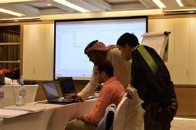 ドバイの企業で実際に行われている研修の様子=写真提供 Ethraa Dubai