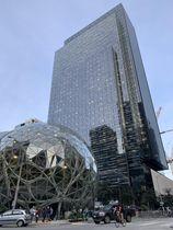 米アマゾン・コムの本社施設=2019年9月、シアトル(共同)