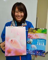 【写真映えを意識した鳥羽水族館の来年のオリジナルカレンダー】