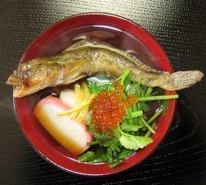 彩りも美しい仙台雑煮