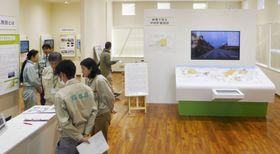 報道公開された中間貯蔵工事情報センター=29日、福島県大熊町
