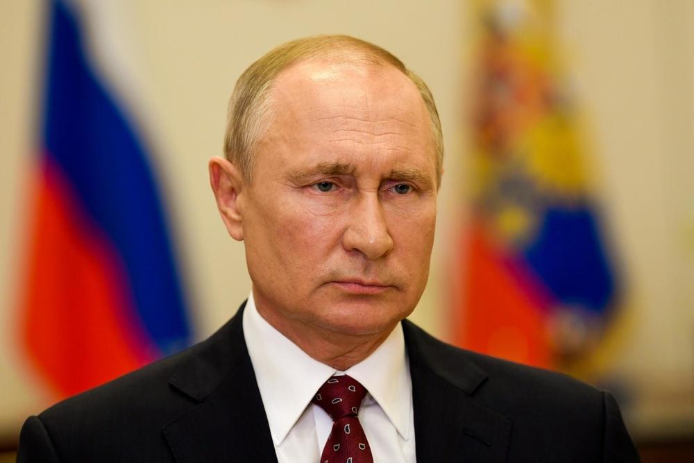 ロシアのプーチン大統領=10日、モスクワ(タス=共同)