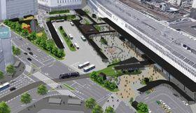 正式決定したJR岡山駅東口広場のデザイン