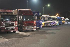 事故を起こしたトラック運転手が休憩することになっていた淡路島南パーキングエリア。運転手は運行計画に反して休憩を取らなかった=兵庫県南あわじ市
