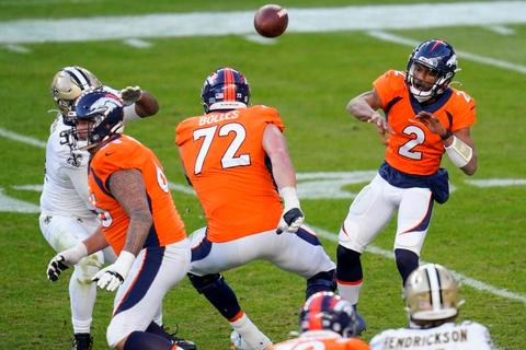 コロナ禍で急造QBが出場 NFL第12週のブロンコス対セインツ