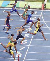 リオデジャネイロ五輪の陸上男子100メートル決勝=2016年8月