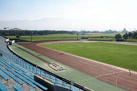 県教委が国体などの開閉会式会場の選定案に決めた県松本平広域公園の陸上競技場